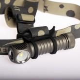 ZebraLight H602 18650 Flood Headlamp, XM-L2 Cool White LED, 1090 Max Lumens