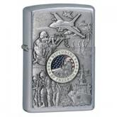 Zippo Joined Forces Emblem, Street Chrome Classic