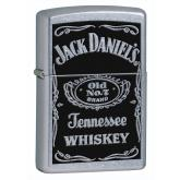 Zippo Jack Daniel's Label, High Polish Chrome Classic
