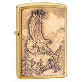 Zippo Where Eagles Dare Emblem, Brushed Brass Classic