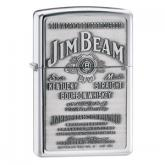 Zippo Jim Beam Pewter Emblem, High Polish Chrome Classic