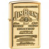 Zippo Jim Beam Brass Emblem, High Polish Brass Classic