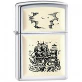 Zippo Ship Emblem, High Polish Chrome Classic