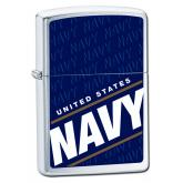 Zippo US Navy Brushed Chrome Windproof Lighter