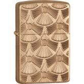 Zippo Fanned Discs, Tumbled Brass, Armor