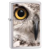 Zippo Owl Face, Brushed Chrome Classic