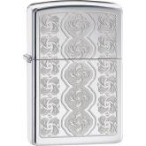 Zippo Swirled Circles, High Polish Chrome Classic