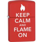 Zippo Keep Calm And Flame On, Red Matte Classic