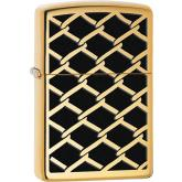Zippo Fence Design, High Polish Brass Classic