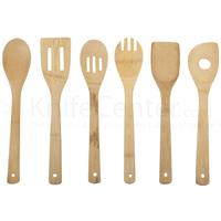 Core Bamboo 6 Piece Kitchen Utensil Set, 100% Bamboo