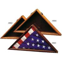 Cherry Flag Display Case - Outside Measurements 18 inch x 18 inch x 2 7/8 inch (2 inch inside)
