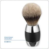Merkur 90120011 Silvertip Badger Hair Shave Brush, Chrome and Black Handle