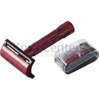 Merkur Bakelite Safety Razor, Black and Red, 3-1/4 inch Overall