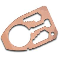 Dragoncut Design 0.25 inch Thick Copper Shield 22-Function Pry Tool, Blasted