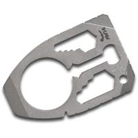 Dragoncut Design 0.25 inch Thick Titanium Shield 22-Function Pry Tool, Stonewashed