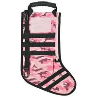 GenPro RuckUp Pink Camo Tactical Christmas Stocking with MOLLE Attachment