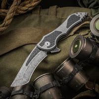 Jake Hoback Custom Paraclete Zero Gravity Flipper 3.75 inch CTS-XHP Fallout Blade and Titanium Handles with Carbon Fiber Inlays