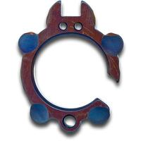 KnifeGuys 0.375 inch Thick Custom  inchBlue Footed inch Chubby Titanium Tipsy Turtle Bottle Opener