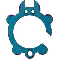 KnifeGuys 0.375 inch Thick Custom  inchTeal Groot'd inch Chubby Titanium Tipsy Turtle Bottle Opener