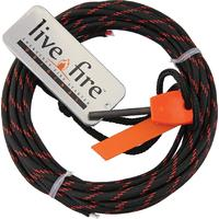 Live Fire Gear Ring O Fire, Live Fire Emergency Fire Starter, Thin Red Line 550 FireCord Paracord, 25 Feet