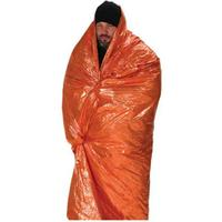 NDuR Emergency Survival Blanket, Orange/Silver