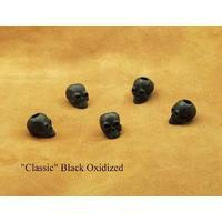 Schmuckatelli Black Oxidized Pewter Classic Skull Bead