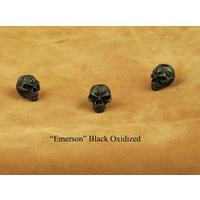 Schmuckatelli Black Oxidized Pewter Emerson Skull Bead