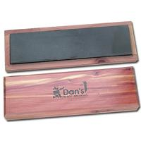Dan's Whetstone Black Hard Arkansas Extra Fine Bench Stone Wooden Box 8 inch x 2 inch x 1/2 inch