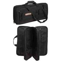 The Ultimate Edge EDB Deluxe 18 Piece Knife Case, 5 Exterior Pockets, Black