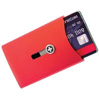 Wagner Super Slim Swiss Wallet with Money Clip, Red Anodized Aluminum