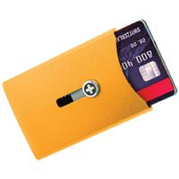 Wagner Super Slim Swiss Wallet with Money Clip, Orange Anodized Aluminum