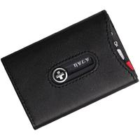 Wagner Super Slim Swiss Wallet with Money Clip, Black Leather