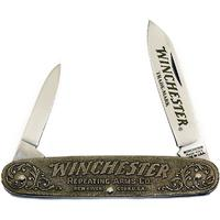 Winchester Model 1873 Commemorative Nickel Silver Pen Knife 3-1/2 inch Closed