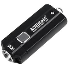 AceBeam UC15 Mini Keychain LED Light, Black, 1000 Max Lumens
