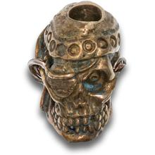 Andre De Villiers Custom Brass Pirate Skull Bead
