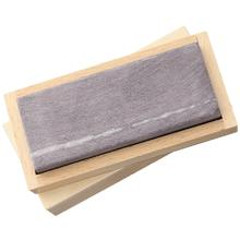 Ardennes Coticule Belgian Blue Whetstone, Small 4 inch x 1.5 inch, Wooden Storage Box