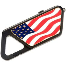 ASP Sapphire Poly USB LED Rechargeable Flashlight, American Flag