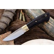 Bark River Knives Dan Tope Brokk Fixed 3.43 inch A2 Tool Steel Blade, Black Canvas Micarta Handles, Leather Sheath