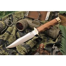 Bark River Knives MACV SOG Fixed 6.25 inch CPM-3V Blade, Stacked Leather Handles, Leather Sheath