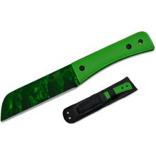 Bear OPS Bear Tac II Undead Fixed 5-1/2 inch Reaper Z Coated Blade, Green G10 Handles (UD-CC-500)