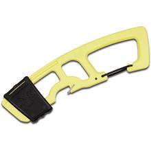 Benchmade 9CB-YEL Rescue Hook Strap Cutter with Carabiner, Yellow