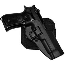 BLACKHAWK! CF Holster w/BL & Paddle, Serpa, RH,  Black, Fits Glock 17/22