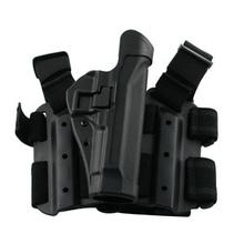 BLACKHAWK! Tactical Serpa Thigh Holster, RH, Black, Ber 92/96