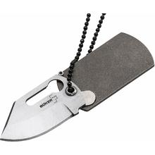 Boker Plus KTK Kubasek Dog Tag Knife 1.75 inch Satin Blade, Titanium Handle