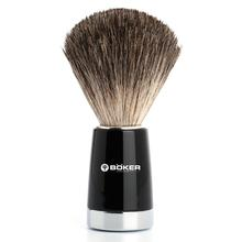Boker Pure Badger Hair Shaving Brush, Black Synthetic Handle