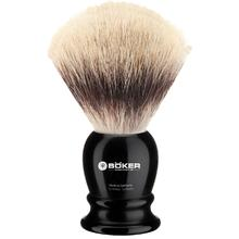 Boker Silvertip Fiber Shaving Brush, Black Synthetic Handle