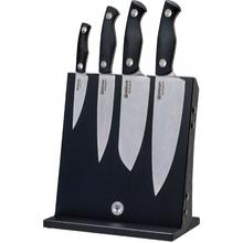 Boker Saga 5 Piece Kitchen Block Set, Stonewash, Black G10 Handles
