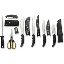 Browning D.I.Y. Butcher Kit with Stainless Steel Blades, Black Injected Molded Rubber Handles, Nylon Tool Roll