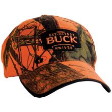 Buck 89054 Adjustable Logo Cap, Mossy Oak Blaze Orange Camo