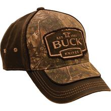 Buck 89087 Adjustable Logo Cap, Camo & Suede Brown